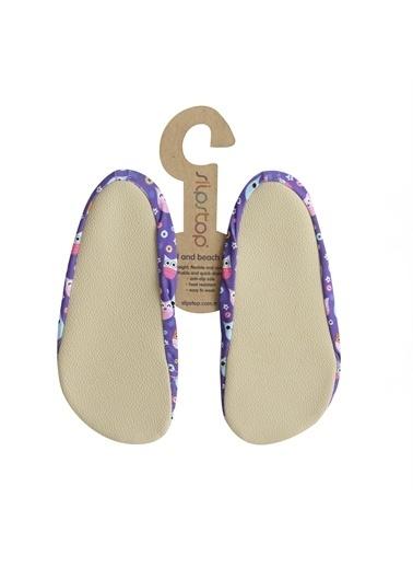 Slipstop 16110105-R Button Çocuk Havuz Ve Deniz Ayakkabısı Mor Renkli